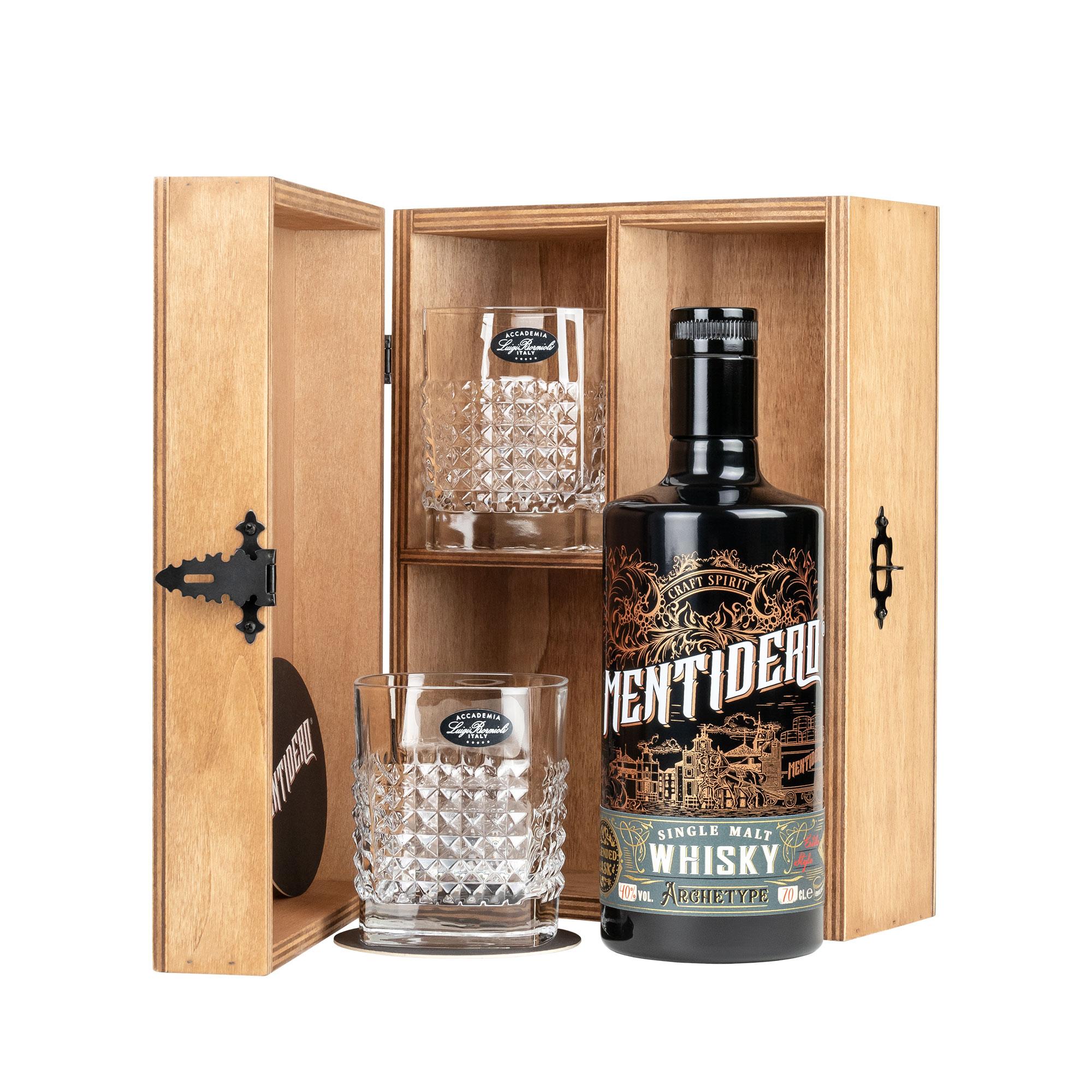 whisky mentidero archetype set regalo con vasos
